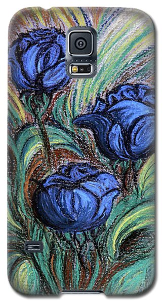 Galaxy S5 Case featuring the painting Blue Roses by Jasna Dragun