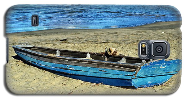 Blue Rowboat Galaxy S5 Case by Holly Blunkall