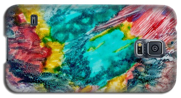 Galaxy S5 Case featuring the painting Blue Rush by Joan Reese