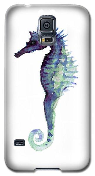 Blue Seahorse Galaxy S5 Case by Joanna Szmerdt