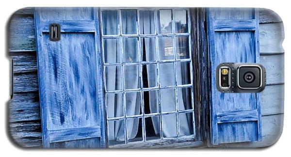 Blue Shutters Galaxy S5 Case by Bonnie Fink