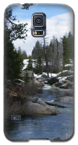 Galaxy S5 Case featuring the photograph Blue Skies Of Winter by Bobbee Rickard