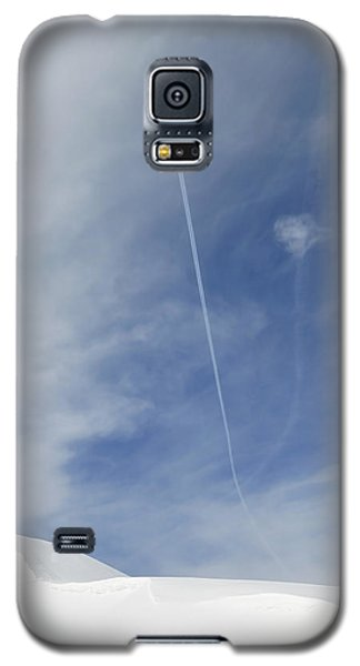 Blue Sky And Snow Galaxy S5 Case