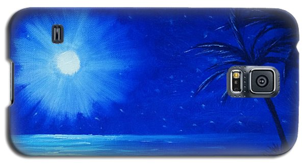 Galaxy S5 Case featuring the painting Blue Sky At Night by Arlene Sundby
