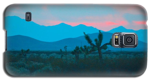 Blue Sky Cacti Sunset Galaxy S5 Case