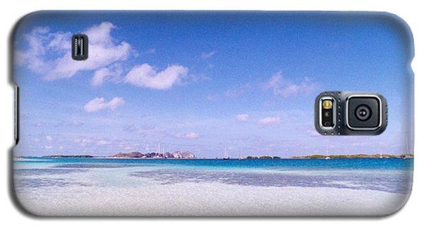 Blue Sky Over White Sandy Beach Galaxy S5 Case