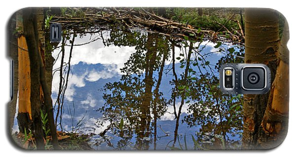 Galaxy S5 Case featuring the photograph Blue Sky Reflecting by Jeremy Rhoades