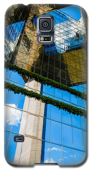 Galaxy S5 Case featuring the photograph Blue Sky Reflections On A London Skyscraper by Peta Thames