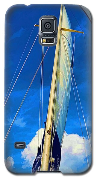 Galaxy S5 Case featuring the photograph Blue Sky Sailing by Pamela Blizzard