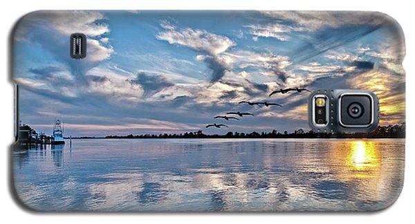 Blue Sky Sunset Galaxy S5 Case
