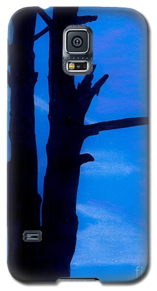 Galaxy S5 Case featuring the drawing Blue Sky Tree by D Hackett