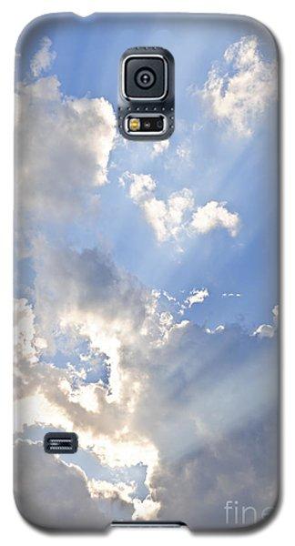 Blue Sky With Sun Rays Galaxy S5 Case