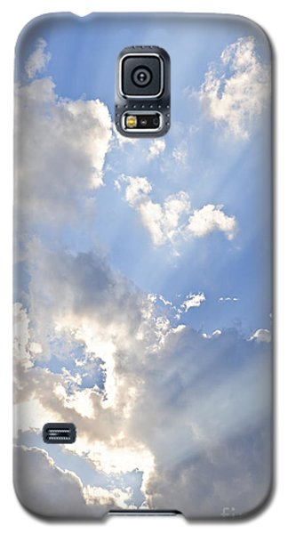 Blue Sky With Sun Rays Galaxy S5 Case