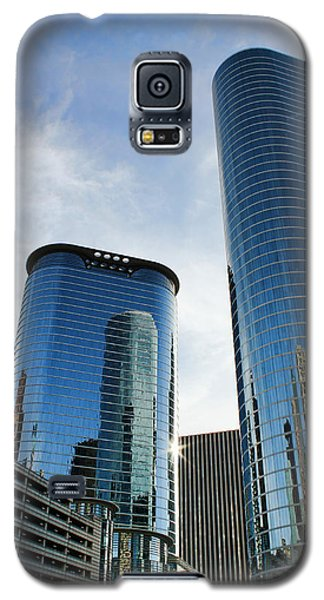 Blue Skyscrapers Galaxy S5 Case by Judy Vincent