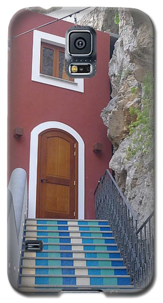 Galaxy S5 Case featuring the photograph Blue Stairs by Nora Boghossian