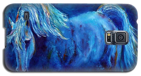 Blue Stallion Galaxy S5 Case by Jennifer Godshalk