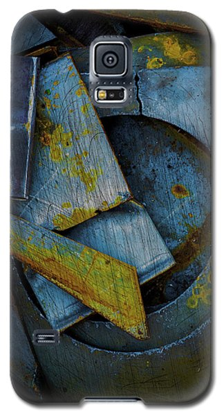 Blue Steel With Scratches Galaxy S5 Case