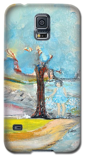 Galaxy S5 Case featuring the painting Blue Summer by Evelina Popilian