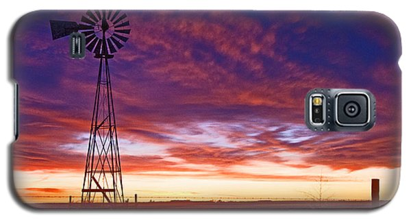 Galaxy S5 Case featuring the photograph Blue Sunrise by Shirley Heier
