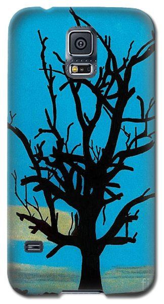 Galaxy S5 Case featuring the drawing Blue Sunset by D Hackett