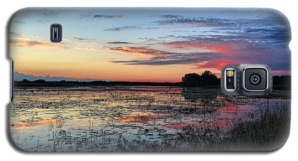 Blue Sunset Over The Refuge Galaxy S5 Case