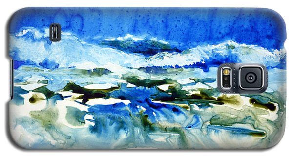 Galaxy S5 Case featuring the painting Blue Surf by Joan Hartenstein