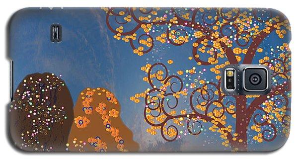 Galaxy S5 Case featuring the digital art Blue Swirl Girls by Kim Prowse