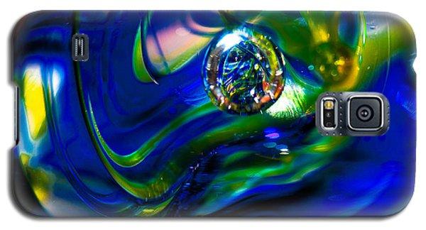 Blue Swirls Galaxy S5 Case
