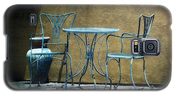 Blue Table And Chairs Galaxy S5 Case