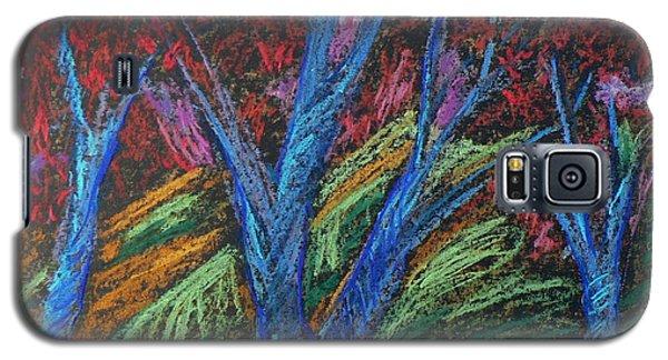 Central Park Blue Tempo Galaxy S5 Case by Elizabeth Fontaine-Barr