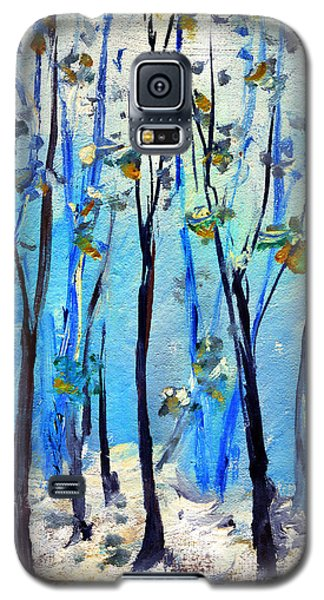 Blue Thoughts In Winter Galaxy S5 Case