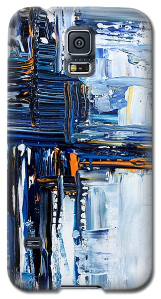 Galaxy S5 Case featuring the painting Blue Thunder by Rebecca Davis