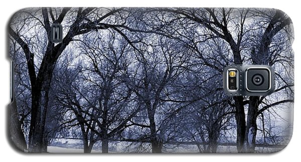Galaxy S5 Case featuring the digital art Blue Tone Trees by Aliceann Carlton