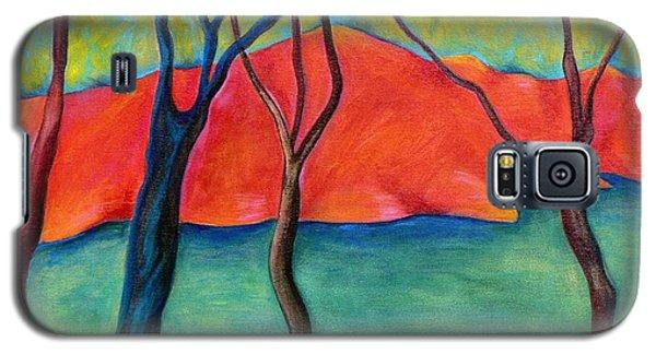 Blue Tree 2 Galaxy S5 Case by Elizabeth Fontaine-Barr