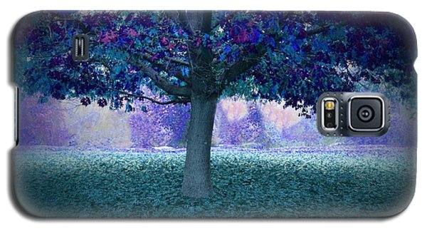 Blue Tree Monet Painting Background Galaxy S5 Case