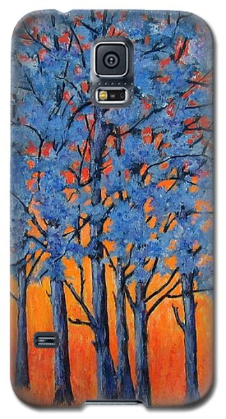 Blue Trees On A Hot Day Galaxy S5 Case