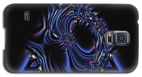 Blue Triangle Jewel Abstract Galaxy S5 Case