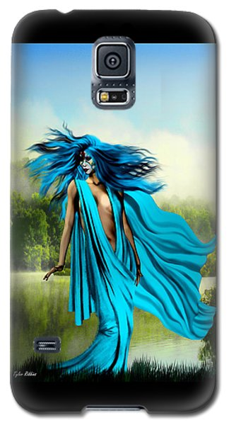 Galaxy S5 Case featuring the painting Blue by Tyler Robbins