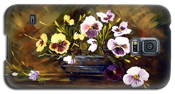 Blue Vase With Pansies Galaxy S5 Case