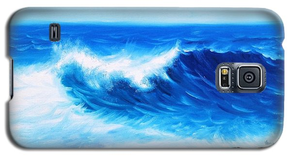 Galaxy S5 Case featuring the painting Blue by Vesna Martinjak