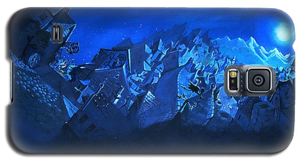 Galaxy S5 Case featuring the painting Blue Village by Joseph Hawkins