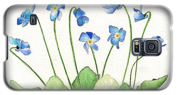Blue Violets Galaxy S5 Case