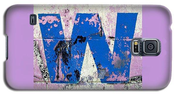 Blue W Galaxy S5 Case by Ethna Gillespie