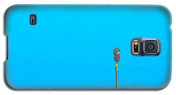 Blue Wall Parking Galaxy S5 Case