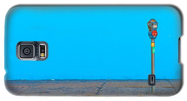 Galaxy S5 Case featuring the photograph Blue Wall Parking by Darryl Dalton