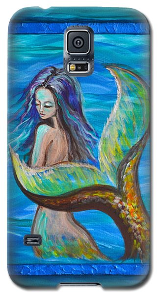 Galaxy S5 Case featuring the painting Blue Water by Agata Lindquist