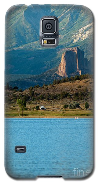 Galaxy S5 Case featuring the photograph Blue Water And Needlrock by Eric Rundle