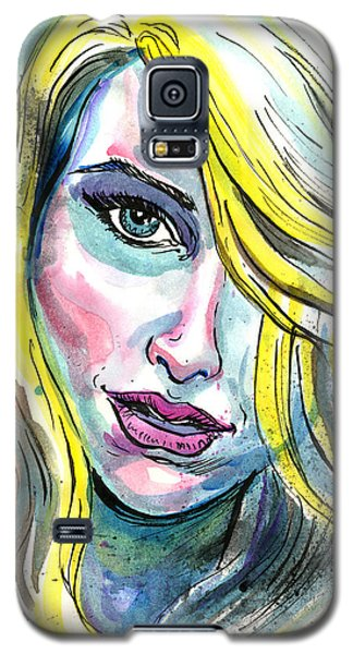 Blue Water Blonde Galaxy S5 Case