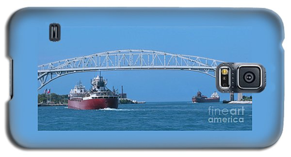 Blue Water Bridge And Freighters Galaxy S5 Case by Ann Horn