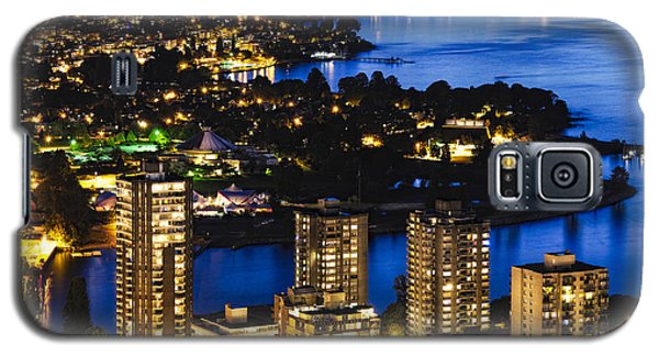 Galaxy S5 Case featuring the photograph Blue Water Kitsilano Beach Mcdix by Amyn Nasser
